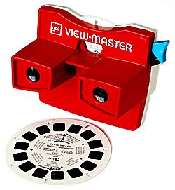 Viewmaster 3d viewer and reel